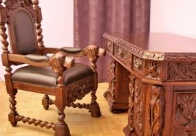 Fotel w stylu myśliwskim FM01