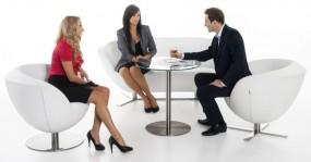 Fotele do recepcji i poczekalni