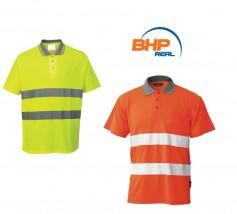 Bawełniana koszulka ostrzegawcza Polo