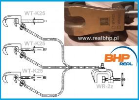 Uziemiacz trójzaciskowy na przyłącza  kulowe U3-K-WT-K25-3/1-18,5/1-95(I)(WR-2z)
